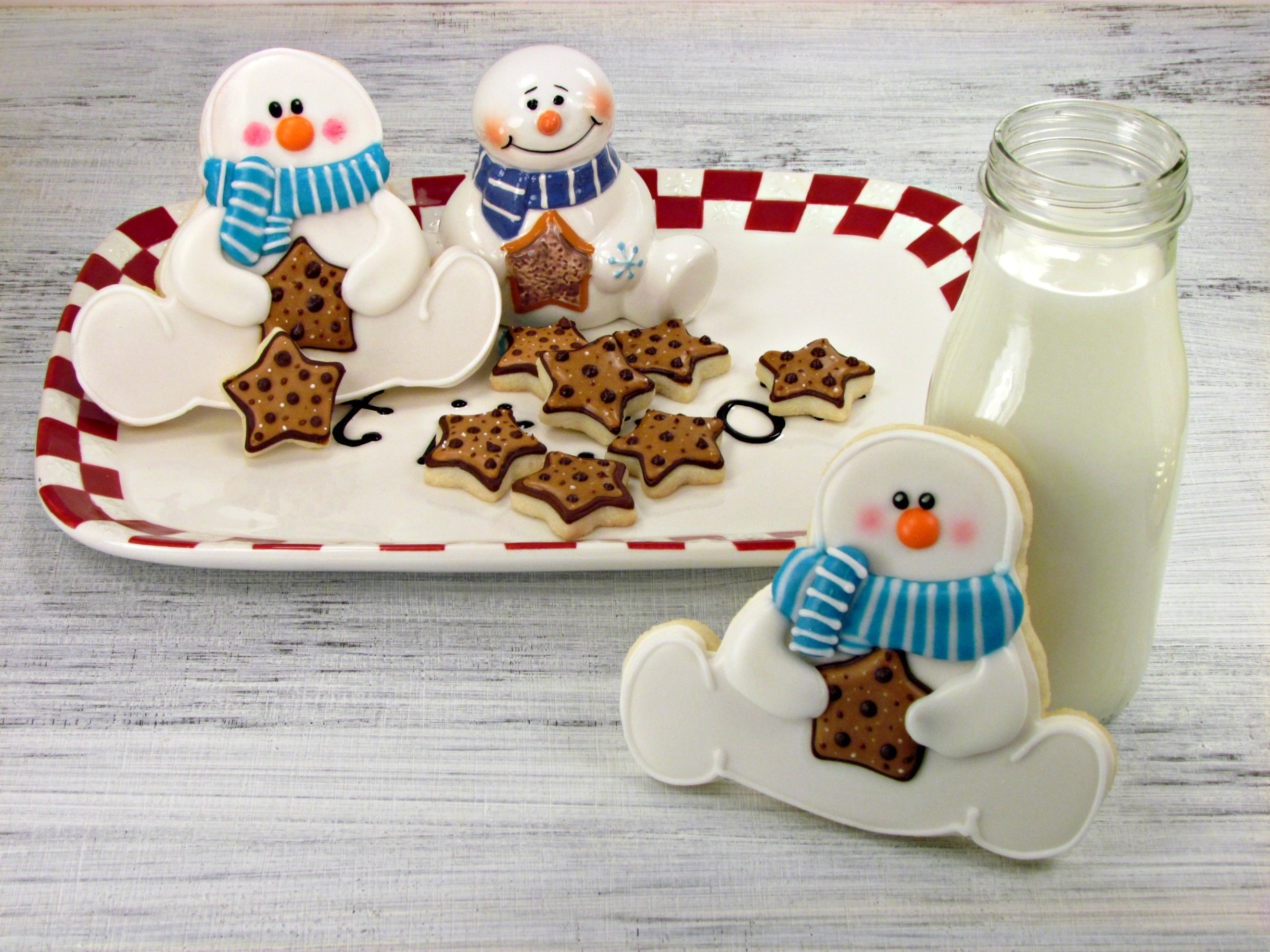 Snowman cookies inpired by a platter the bearfoot baker