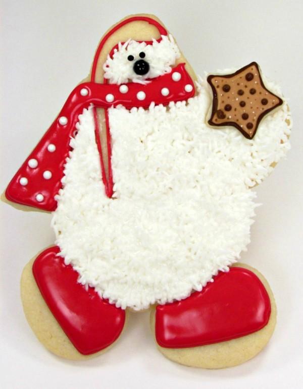 Polar Bear Cookies thebearfootbaker.com