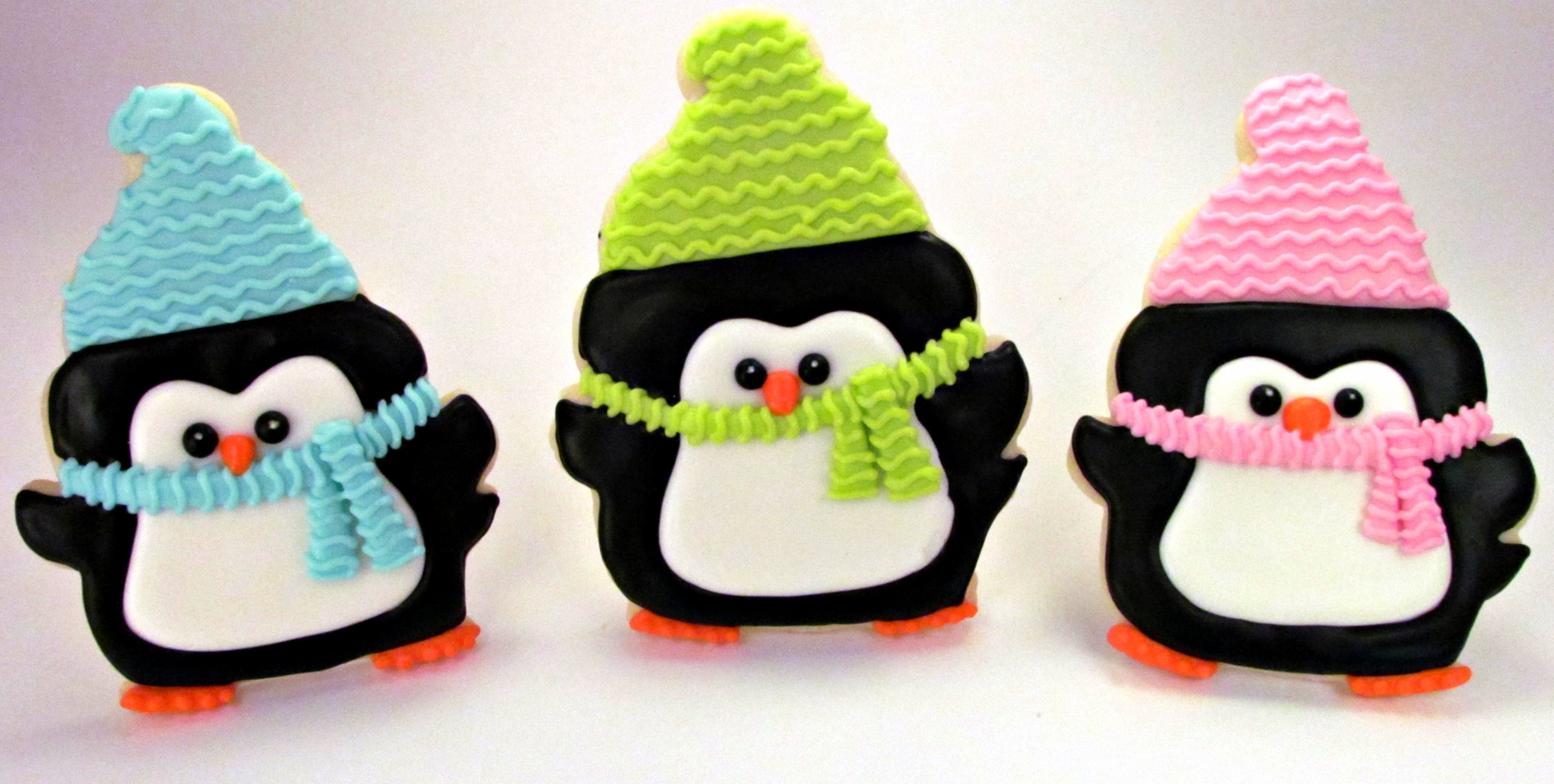 Penguin Cookies With Cute Little Hats The Bearfoot Baker