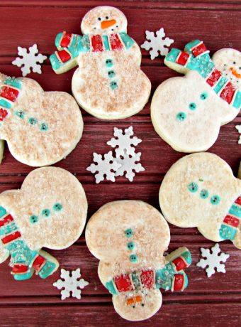 Cute Little Old Snowmen Cookies Decorated Christmas Cookies via www.thebearfootbaker.com