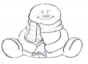 Let it snow snowman template 3