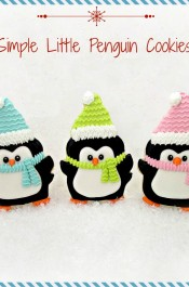 Penguin Cookies -Decorated Christmas Cookies via www.thebearfootbaker.com