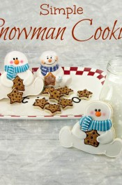 Snowman Cookies Inpired by a Platter