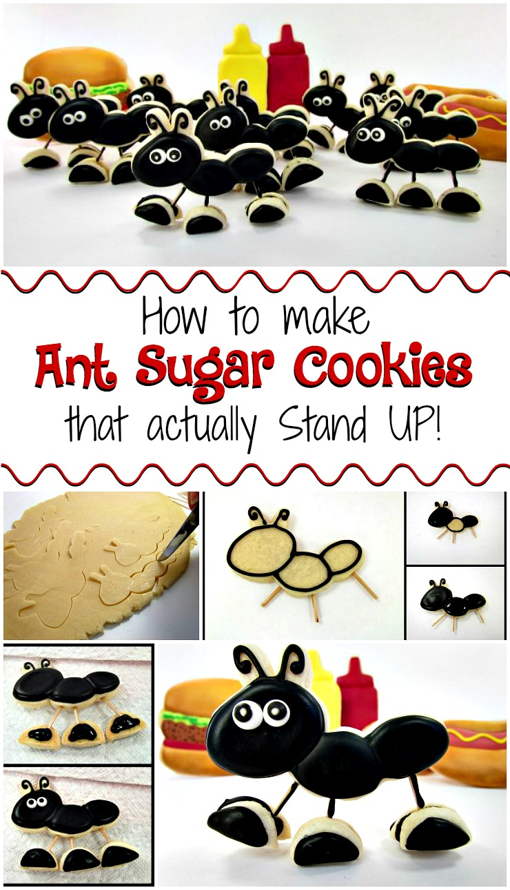How to Make Ant Sugar Cookies that Actually Stand Up via www.thebearfootbaker.com