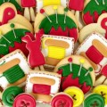 Sewing Cookies Platter