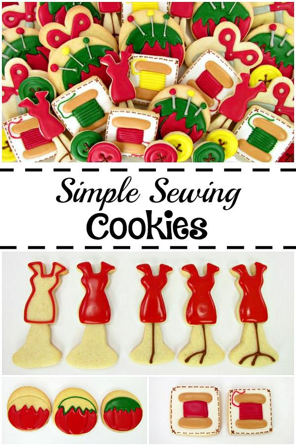 Simple Sewing Cookies via www.thebearfootbaker.com