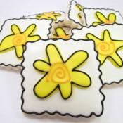 Whimsical Flower Cookies 10