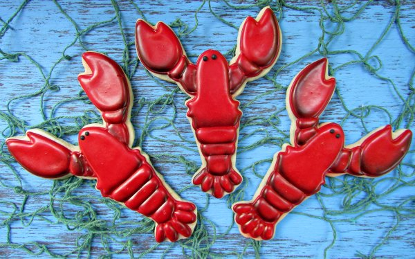 Lobster Cookie thebearfootbaker.com