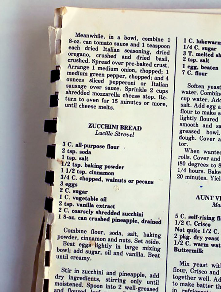 Zucchini Bread Recipe, The Bearfoot Baker