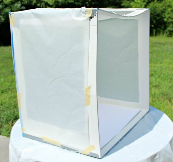 Porch Light Box: Parchment Paper Light Box For Natural Light