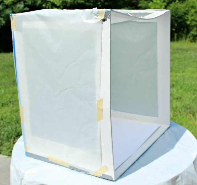 parchment paper light box for natural light the bearfoot