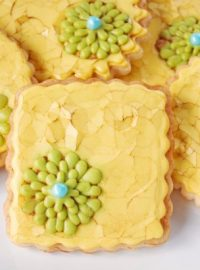 Yellow Shabby Chic Cookies 3B