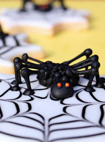 Creepy 3D Spider Cookies |The Bearfoot Baker