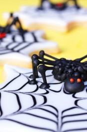 Creepy 3D Spider Cookies