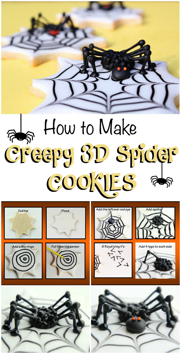 How to Make Creepy 3D Spiders via www.thebearfootbaker.com