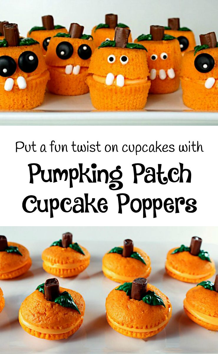 Pumpkin Patch Cupcake Poppers | The Bearfoot Baker