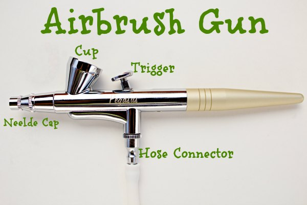Electric Cake Decorating Gun : How to Use an Airbrush Gun The Bearfoot Baker