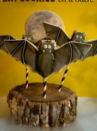 Bat Cookies on a Stick