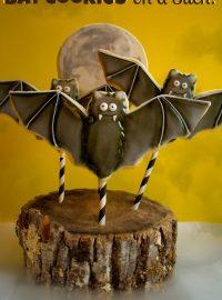 Bat Cookies on a Stick