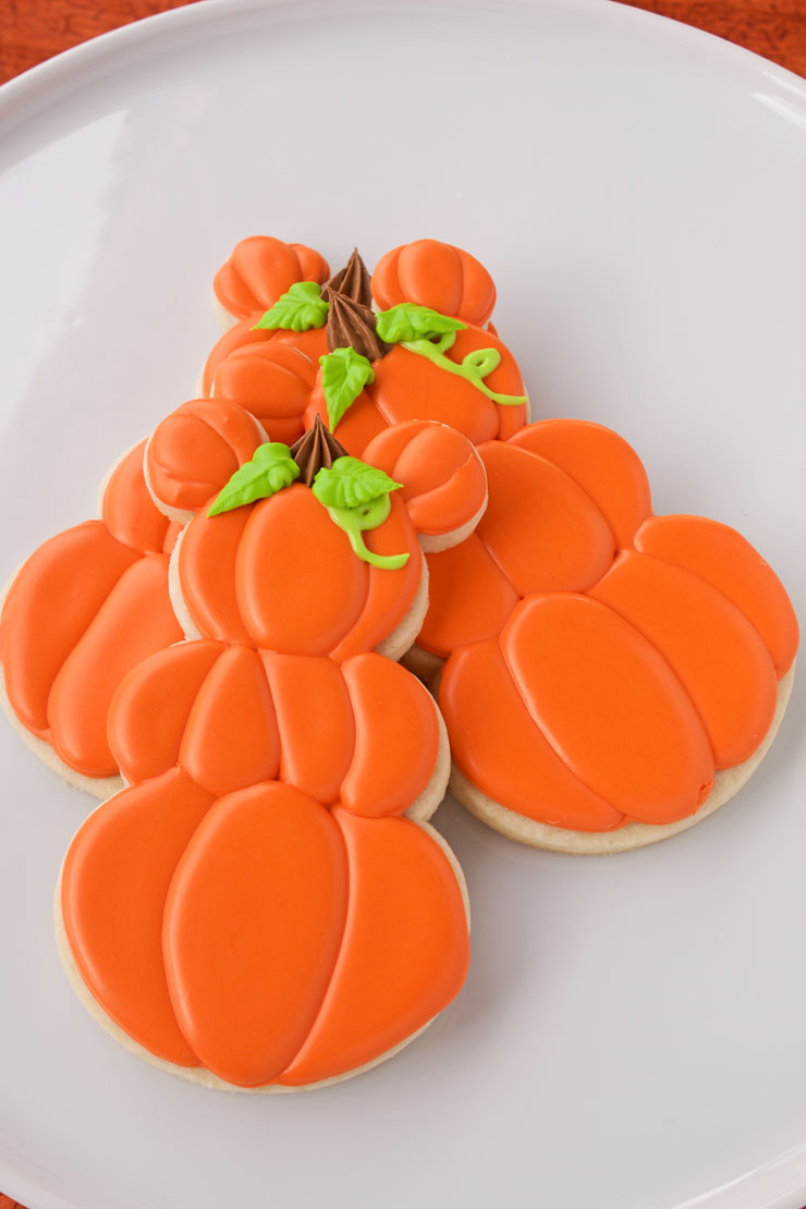 Mickey Mouse Pumpkin Cookies | The Bearfoot Baker