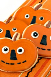 Folk Art Pumpkin Cookies
