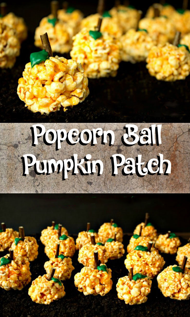 Popcorn Ball Pumpkin Patch | The Bearfoot Baker