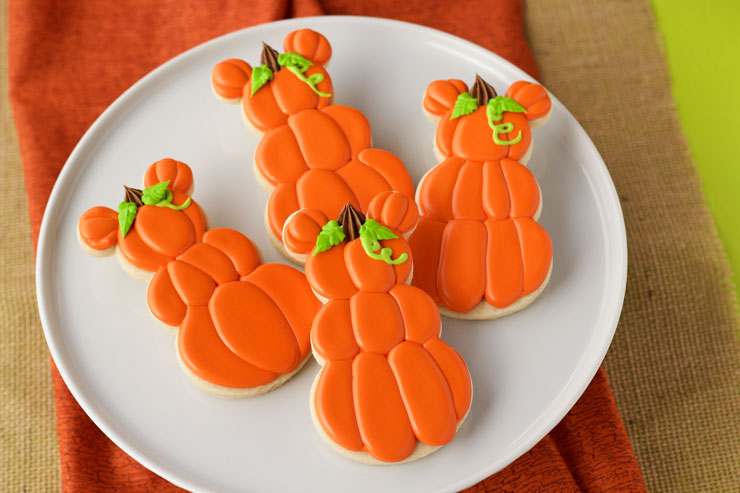 Simple Mickey Mouse Pumpkin Cookies | The Bearfoot Baker