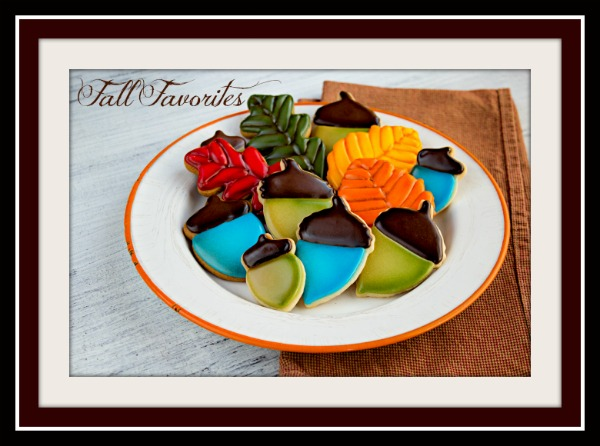 Fall Leaves and Acorn Cookies thebearfootbaker.com