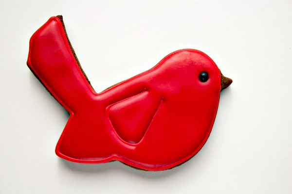 Red Bird Cookies thebearfootbaker.com