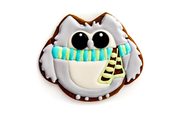 Simple Owl Cookies thebearfootbaker.com