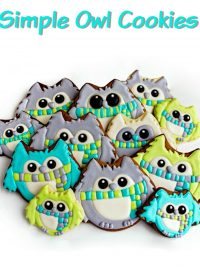 Simple Owl Cookies can be used for Decorated Christmas Cookies via www.thebearfootbaker.com