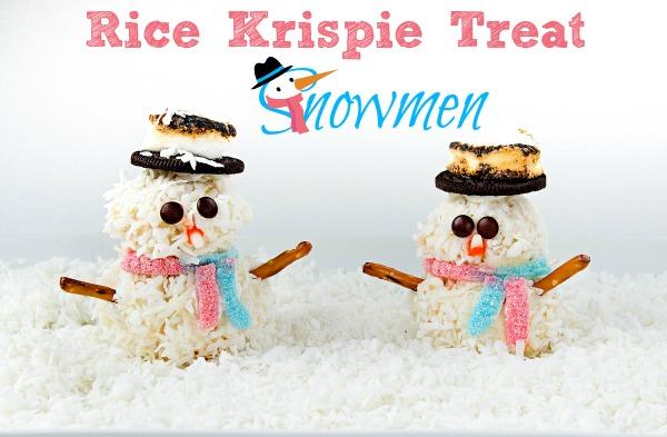 Rice Krispie Snowman