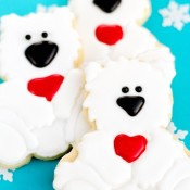 Polar Bear Cookies via thebearfootbaker.com