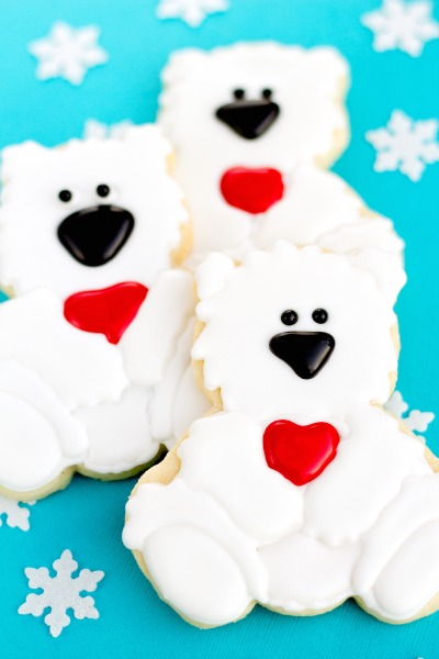Favorites from 2013-Polar Bear Cookies via thebearfootbaker.com