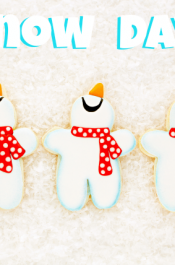 Snowmen Cookies and a Snow DAY!