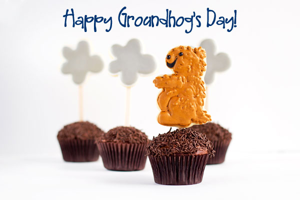 Happy Groundhog's Day Cookies