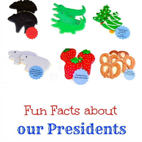 President 39 s day fun facts with cookies the bearfoot baker for Fun facts about the presidents
