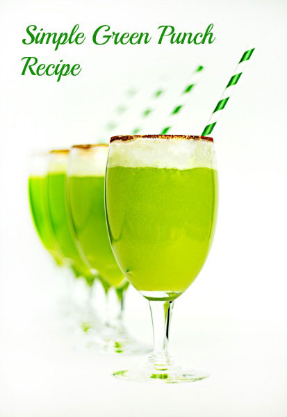 Simple Green Punch Recipe by The Bearfoot Baker