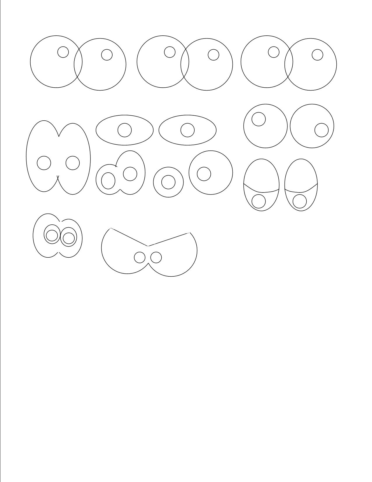 Royal Icing Eyes Templates – Monster Template
