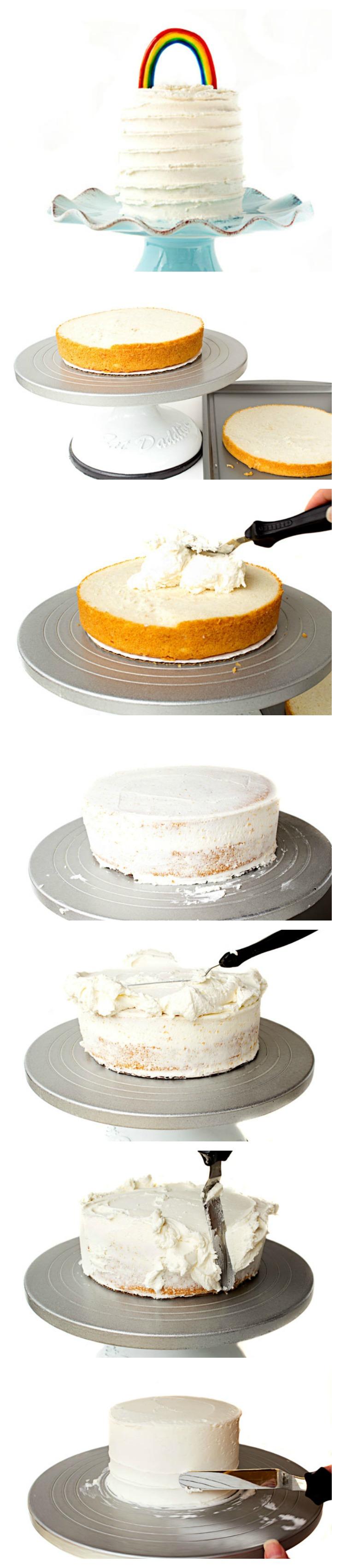 Rainbow Cake www.thebearfootbaker.com