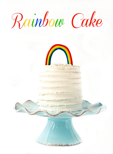Rainbow Cake with an Airbrushing Video