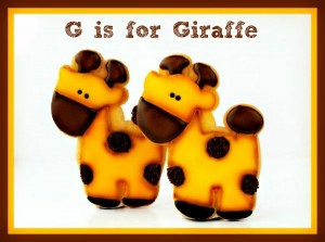 Giraffe, Lion and Elephant Cookies