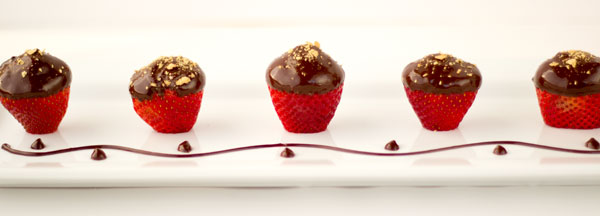 Strawberry Cheesecake Bites Dipped in Chocolate