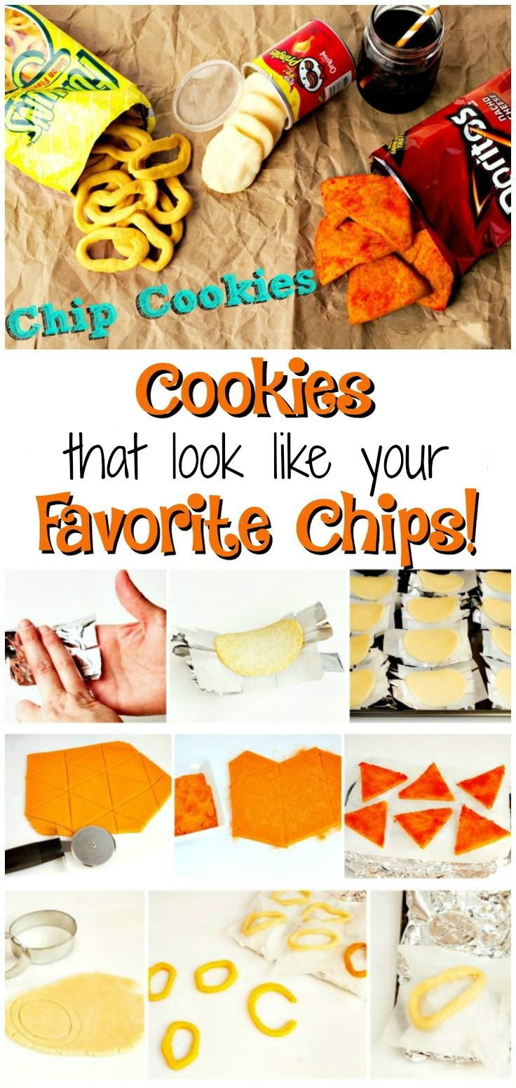 Chip Cookies that Look like Your Favortie Chips via www.thebearfootbaker.com