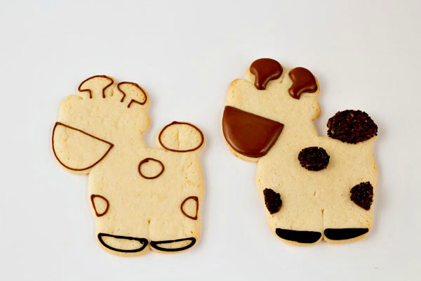 Lion Giraffe and Lion Cookies