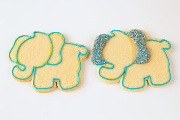 Lion Giraffe and Lion Cookies