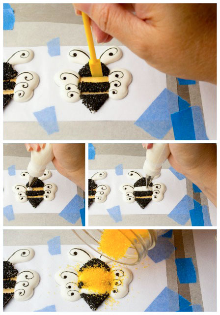 Adorable-Bee-Royal-Icing-Transfers-by-thebearfootbaker.com_