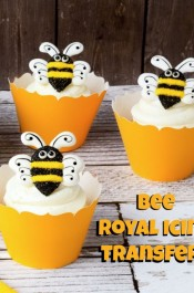 Bee Royal Icing Transfers