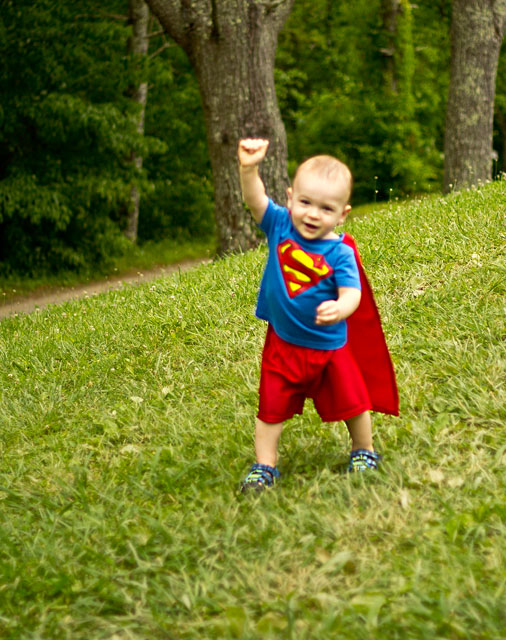 Cute Superman Costume for Toddlers by thebearfootbaker.com