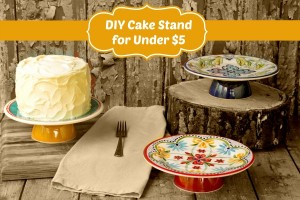 DIY Cake Stand for less than $5 thebearfootbaker.com